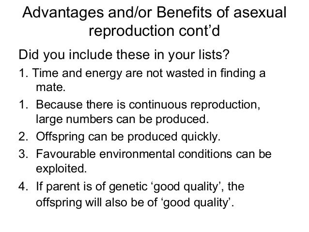 Drawbacks of asexual reproduction