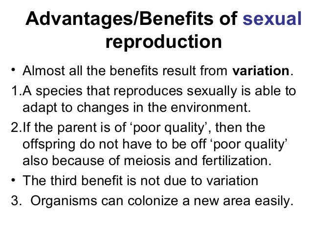 Sexual reproduction advantages over asexual definition