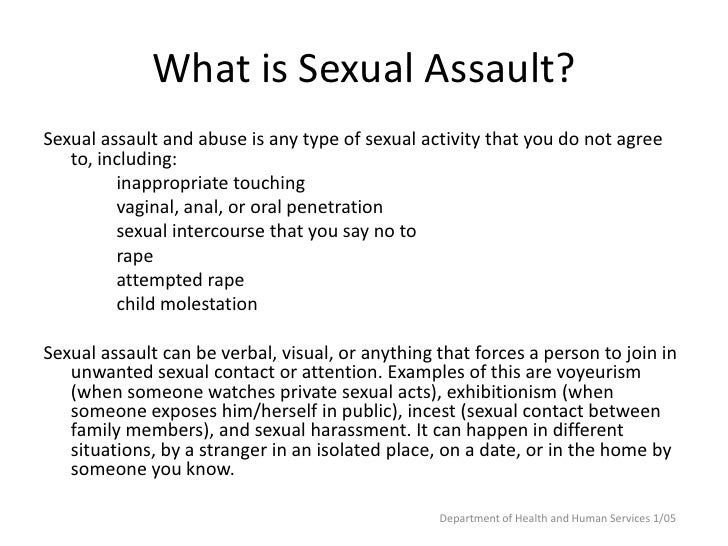 Substance Abuse And Sexual Assaultrape