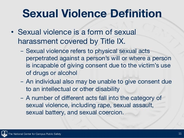 Definition of sexual assult