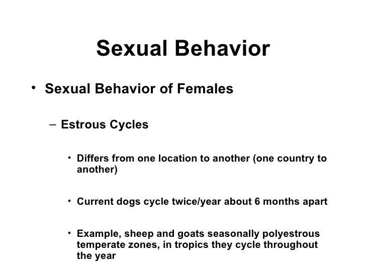 Sexual Behavior Chapter 4