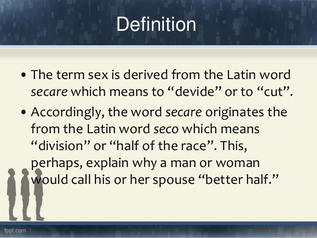 Word That Means No Sex