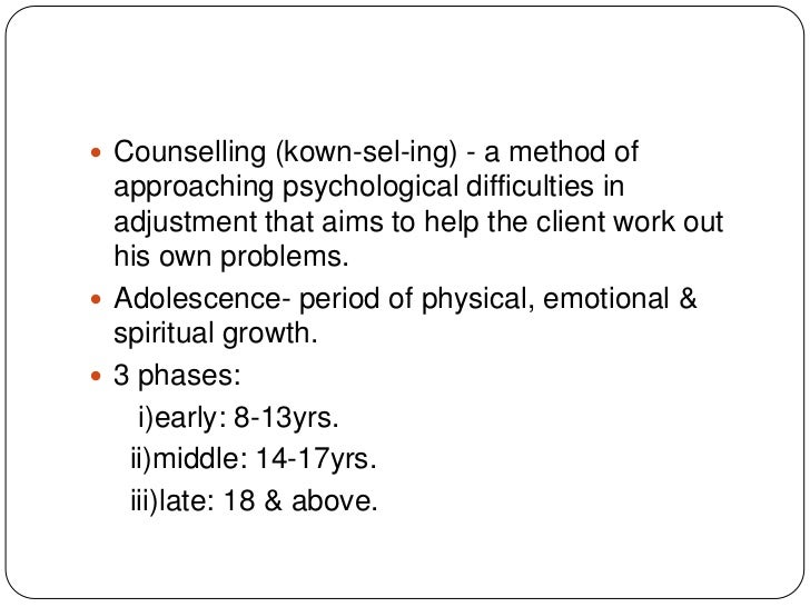 Sexual adjustment counseling