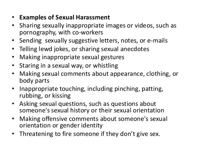 Sexually deviant behavior examples