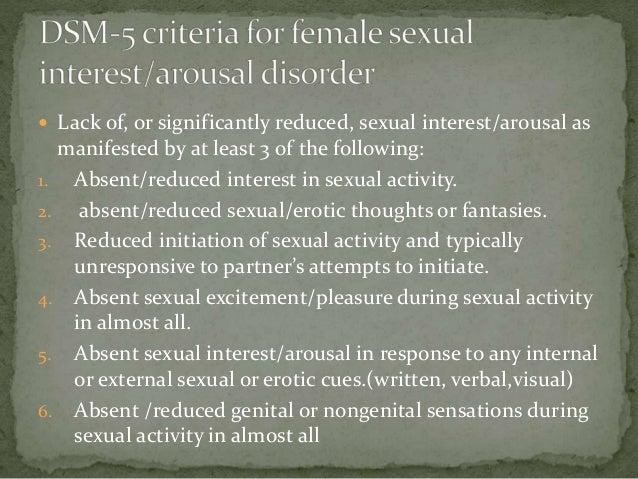 Dsm female sexual interest/arousal disorder