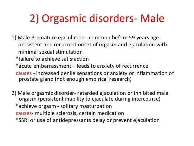 Male orgasm dysfunction