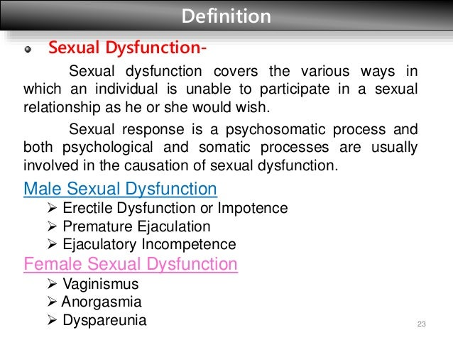 Sexually impotent definition