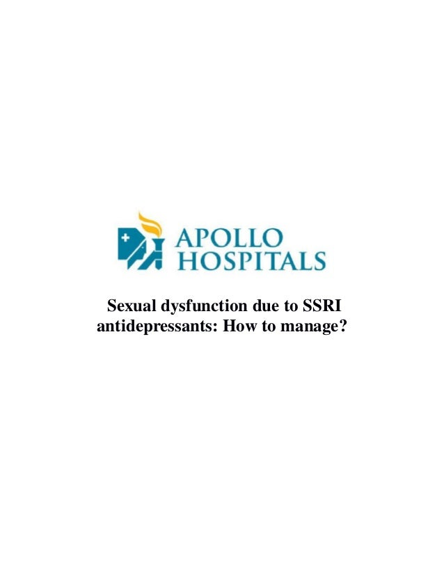 Ssri induced sexual dysfunction