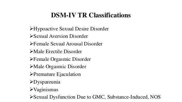 Dsm-iv sexual disorders