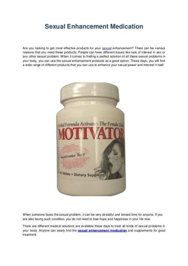 Male and female sexual enhancement products