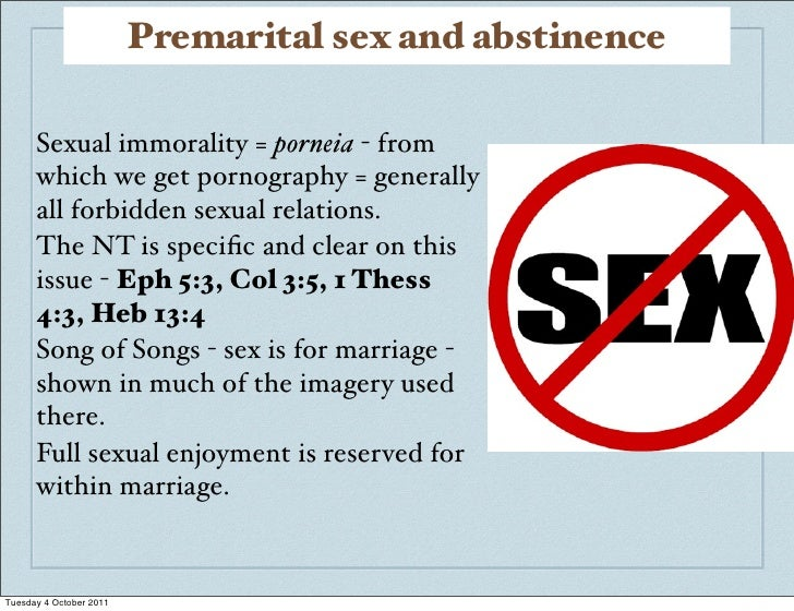 Sexual Immorality Of Examples