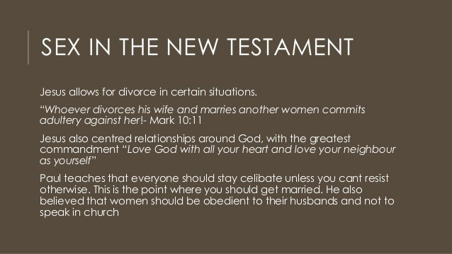 New testament sexual ethics