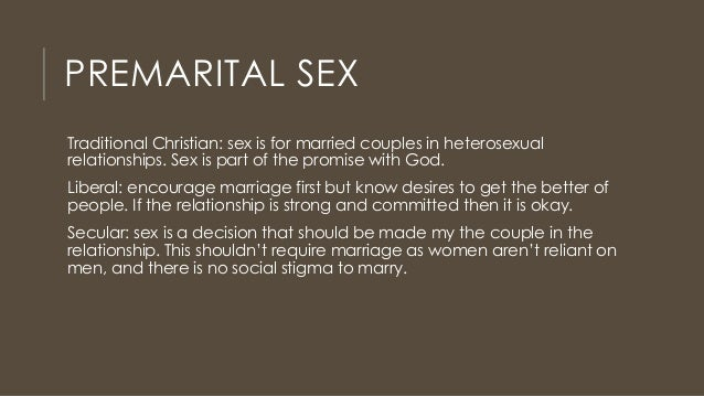 introduction about premarital sex