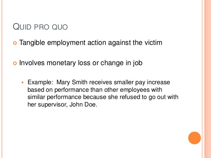 Ahnfeldt quid pro quo sexual harassment
