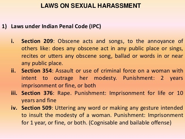 Laws For Sexual Harassment