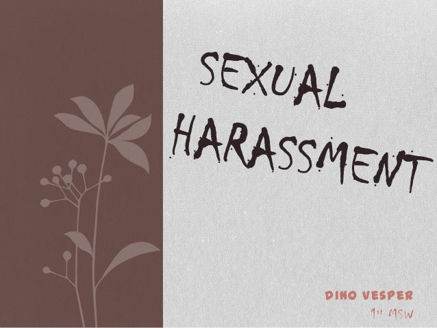 Bngla sexual harassment powerpoint