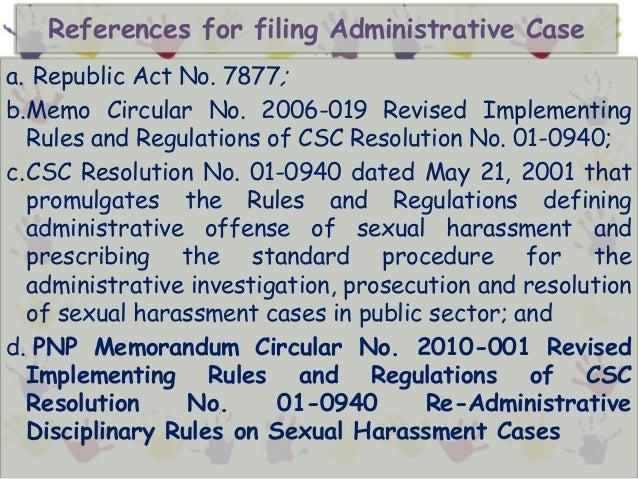 Scenario on sexual harassment