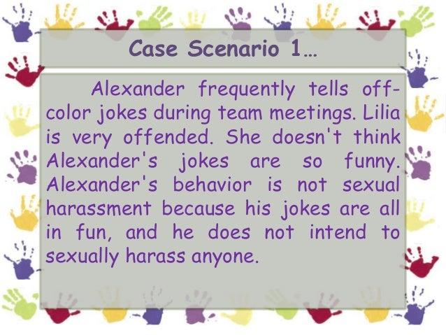 Sexual harassment scenerio