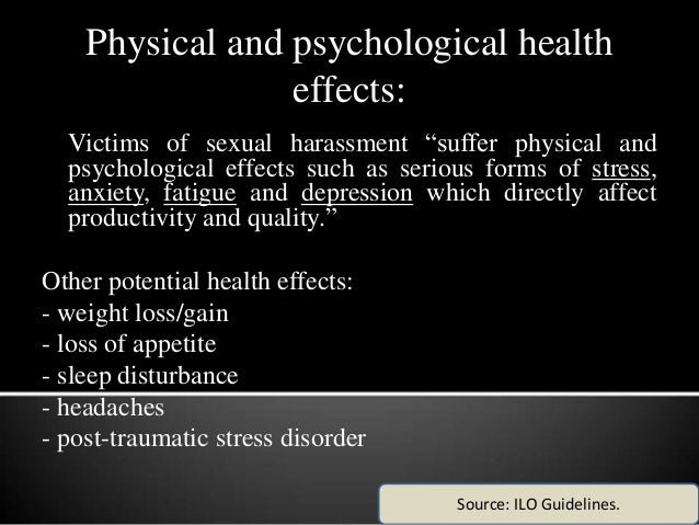 Sexual Harassment Psychological Effects