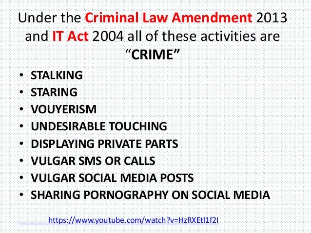 Sexual harassment act slideshare youtube