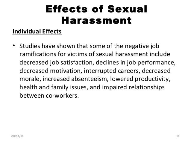 Effects of sexual harrasment