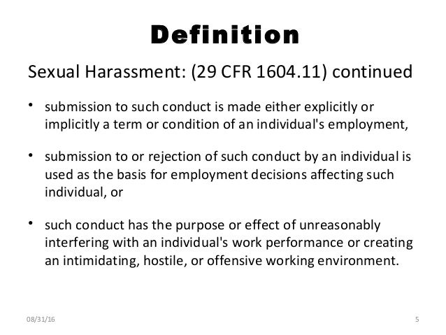 Title Vii Sexual Harassment Definition