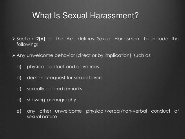 Sexual harassment at Indian workplaces: Legal obligations ...