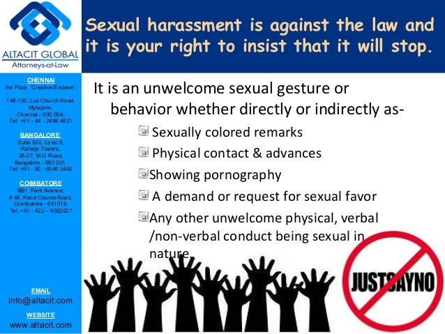Park enclave 2 forms of sexual harassment