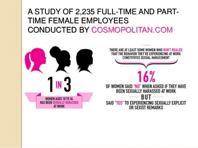 Sexual harassment at work statistics by pink