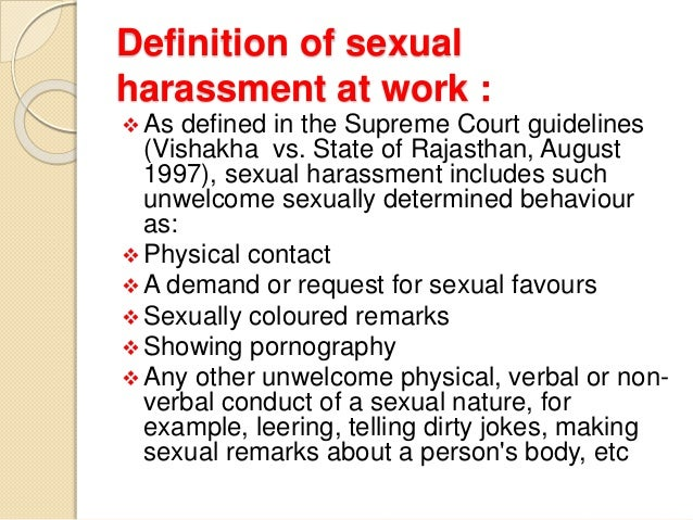 What Is The Meaning Of Sexual Harassment
