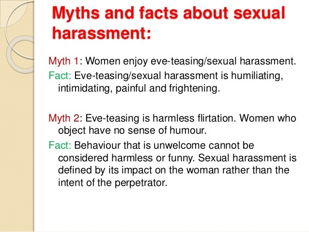 Facts On Sexual Harassment