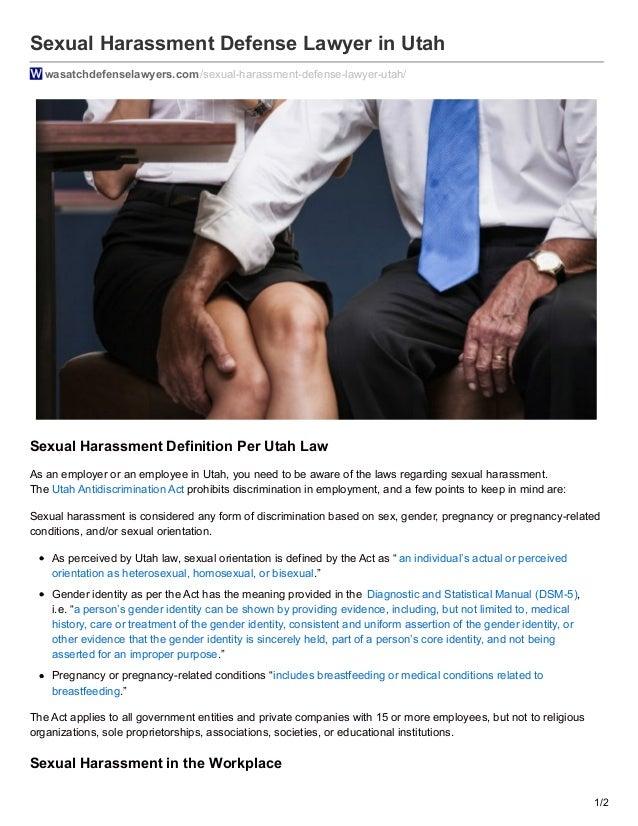Utah sexual harrassment laws