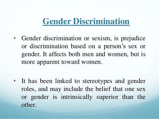 What is the sex discrimination