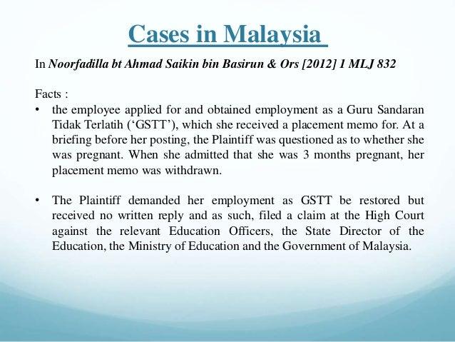 Malaysia sex discrimination act