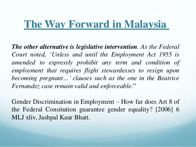 Malaysia court cases on sexual harassment