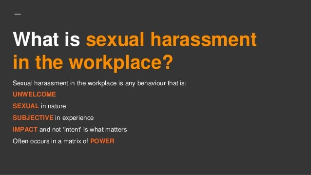 Define sexual harassment and give examples