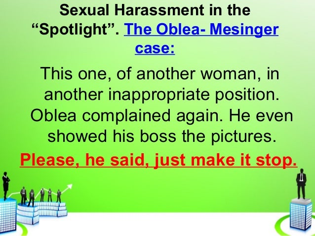 Louis oblea sexual harassment