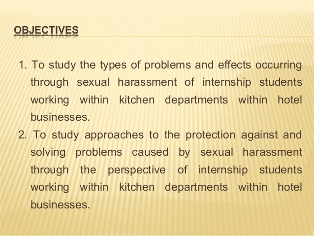Developing Sexual Harassment Training for Interns, Employees