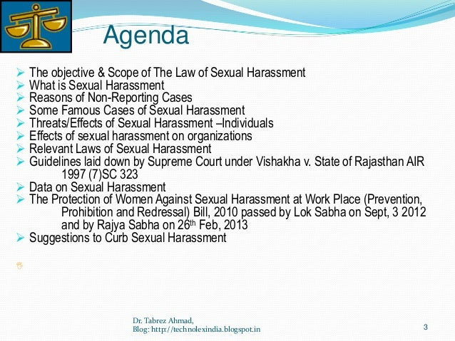 Sexual Harassment of Women at Work Place Slide 3
