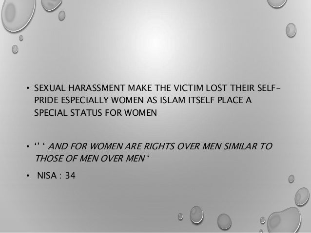 Muslim 2 types of sexual harassment
