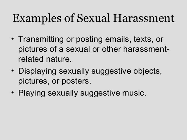 emails sexual harassment