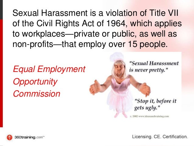 Sexual harassment act title vii of the 1964