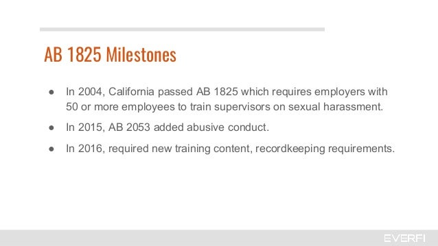 Sexual harassment training california 50 employees