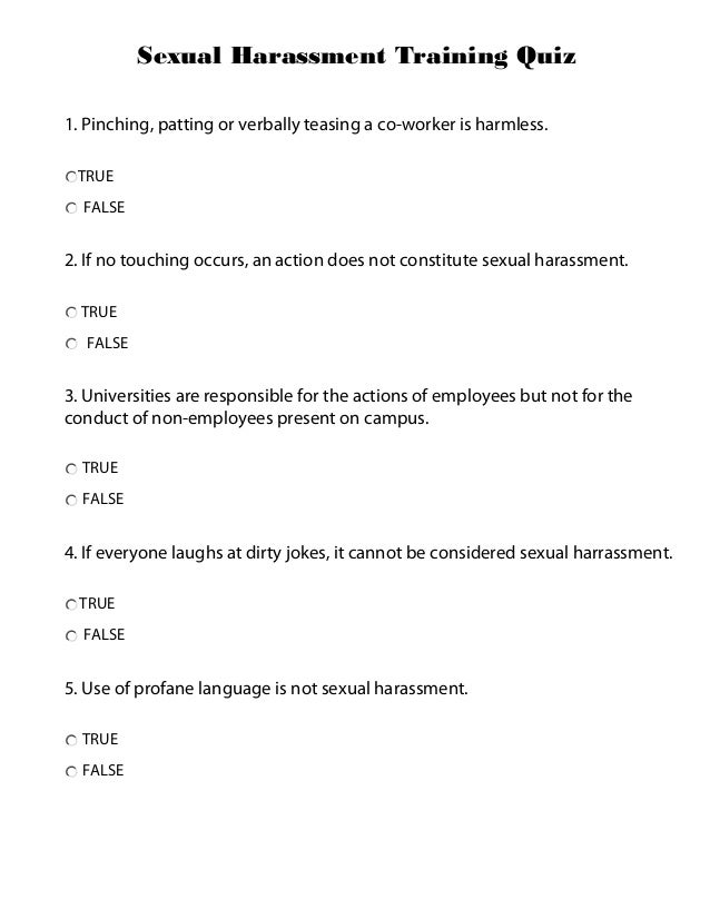 Online Sexual Harassment Training