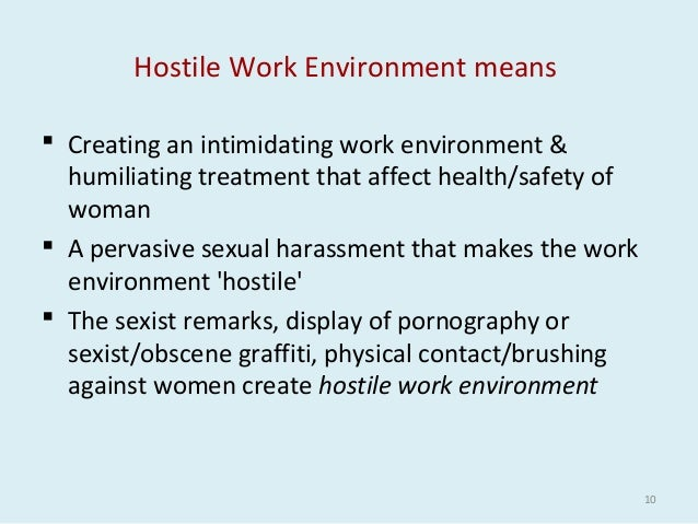 Intimidating work environment definitions