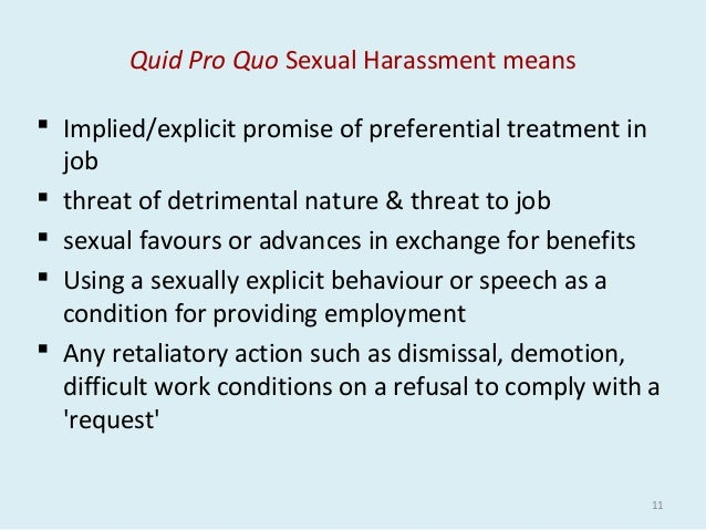 Sexual harassment at workplace examples in india