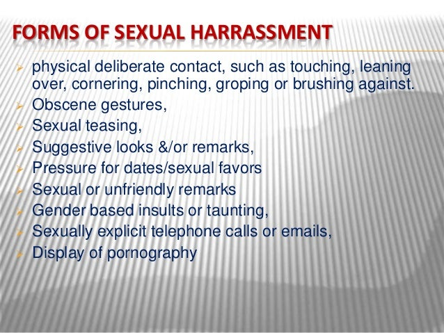 Harassment Sexual Forms Of