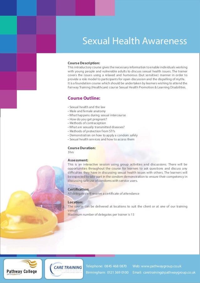 Sexual health awareness courses