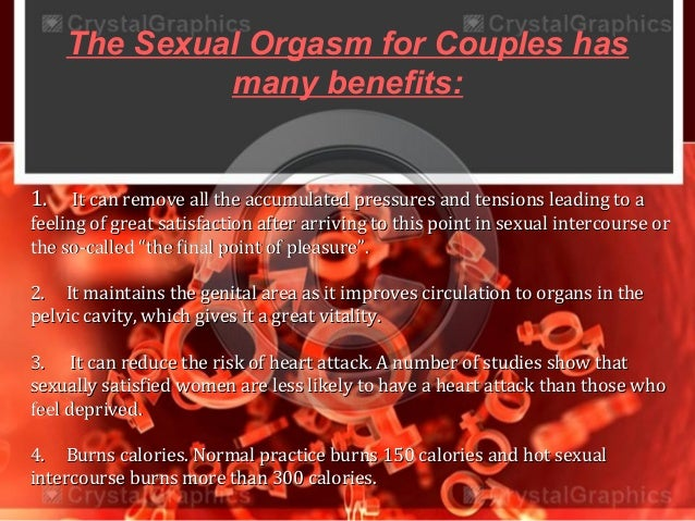 Benefits of the female orgasm