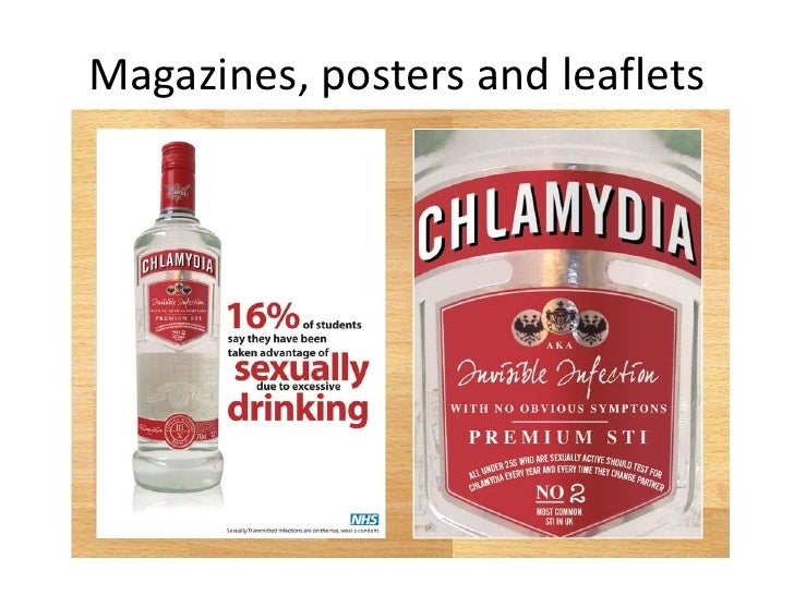 Sexual health promotion posters and leaflets